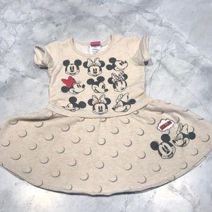 Disney Mickey and Minnie sweatshirt dress 2T